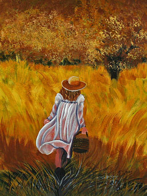 Painting - Girl In The Meadow by Dina Jacobs