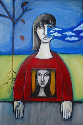 Girl In The Window Art Print by Roy Guzman