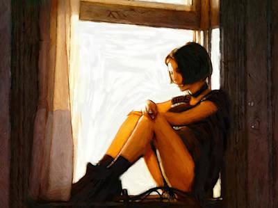 Girl In The Window Art Print by Steve K