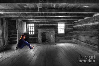 Photograph - Girl In Vacant Room by Dan Friend