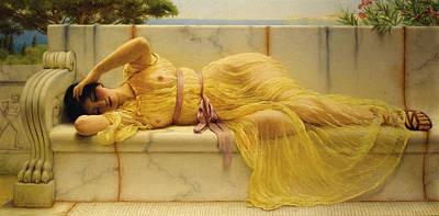 Girl In Yellow Drapery Art Print