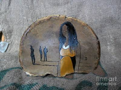Girl In Yellow Art Print by Ildiko Decsei