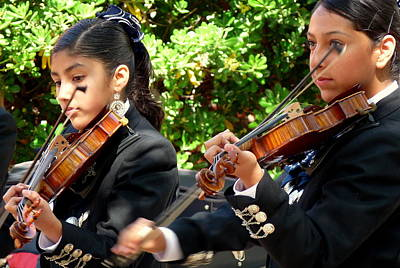 Photograph - Girl Mariachi Band by Jeff Lowe