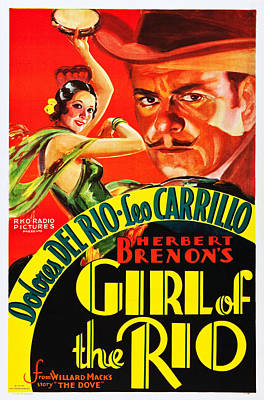 Del Rio Photograph - Girl Of The Rio, Us Poster, From Left by Everett