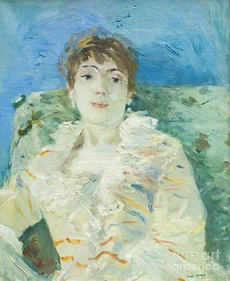 Berthe Photograph - Girl On A Divan By Berthe Morisot by Roberto Morgenthaler