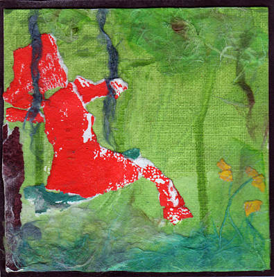 Mixed Media - Girl On A Swing by Jenny Mead