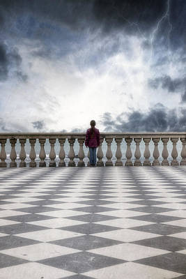 Windy Photograph - Girl On A Terrace by Joana Kruse