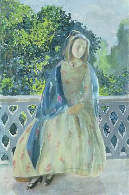 Girl On Balcony, 1900 Print by Viktor Elpidiforovich Borisov-Musatov