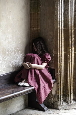 Thoughtful Photograph - Girl On Pew by Joana Kruse