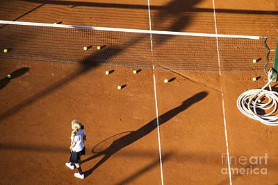 Girl Playing Tennis Original by Lucas Guardincerri