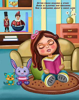 Painting - Girl Reading by Bogdan Floridana Oana