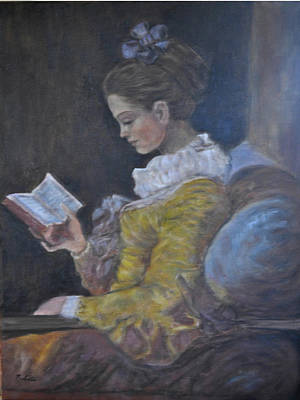 Painting - Girl Reading by Terry Sita