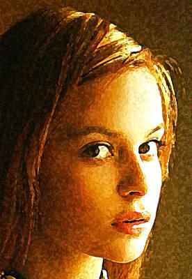 Girl Sans Art Print