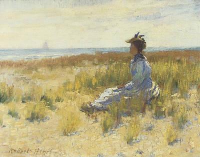 Girl Seated By The Sea Art Print by Robert Henri