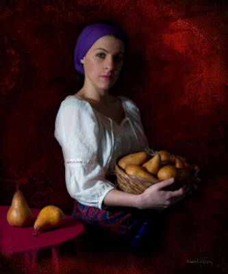 Photograph - Girl Serving Pears by Trudy Wilkerson