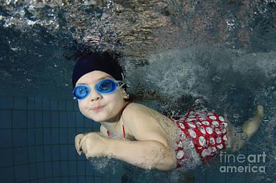 Girl Swimming Underwater Art Print by Hagai Nativ