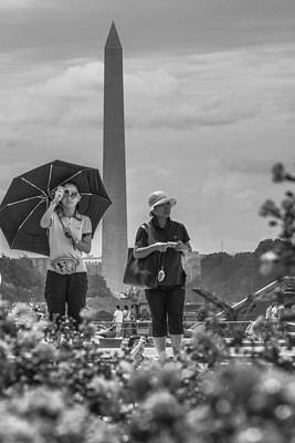 Photograph - Girl Taking A Photo With Washington Monument In Background  by John McGraw