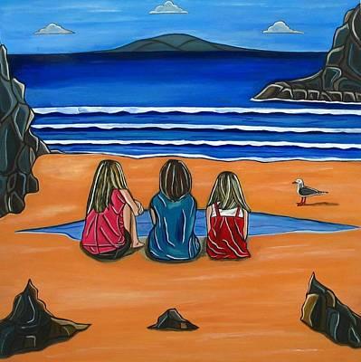 Painting - Girl Talk by Sandra Marie Adams
