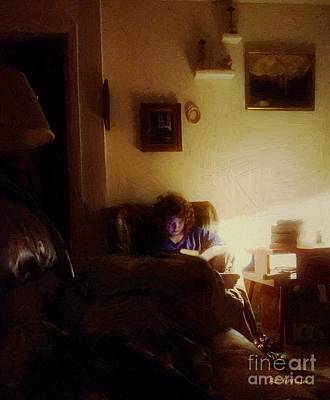 Girl With A Book Print by RC deWinter