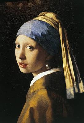 Photograph - Girl With A Pearl Earring, C.1665 Oil On Canvas by Jan Vermeer