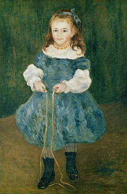 Blue Dress Photograph - Girl With A Skipping Rope, 1876 Oil On Canvas by Pierre Auguste Renoir