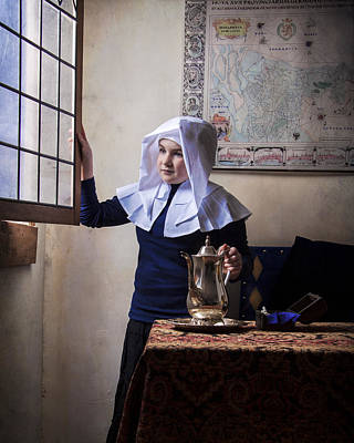 Photograph - Girl With A Water Pitcher by Levin Rodriguez