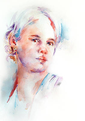 Watercolour Painting - Girl With Attitude by Stephie Butler