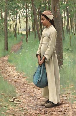 Lonesome Painting - Girl With Bindle by Louis Welden Hawkins