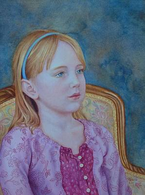 Painting - Girl With Blue Headband by Victoria Lisi