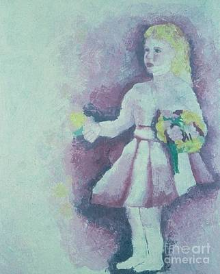 Painting - Girl With Bouquet by Katie McGuire