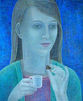 Girl With Chocolate, 2011, Oil On Canvas Art Print