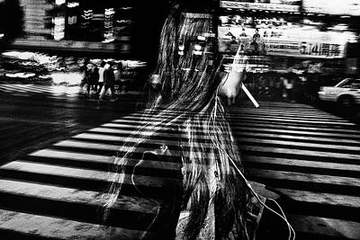 Icm Photograph - Girl With Cigarette by Tatsuo Suzuki