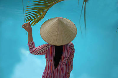 Girl With Conical Hat, Nha Trang Art Print by Keren Su