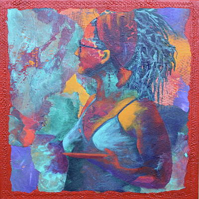 Art Print featuring the painting Girl With Dreads by Nancy Jolley
