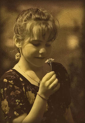 Photograph - Girl With Flower by Hanny Heim