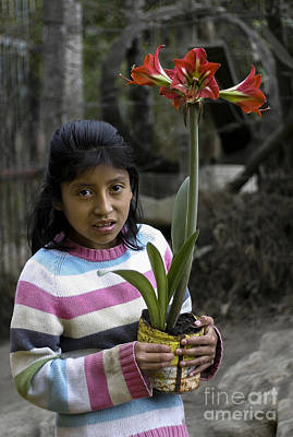 Photograph - Girl With Flower by Steven Ralser