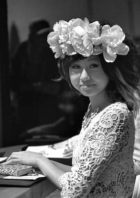 Photograph - Girl With Flowered Hat by Douglas Pike