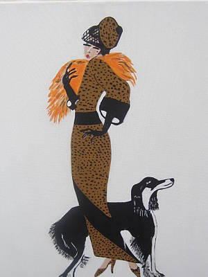 Girl With Orange Fur Art Print