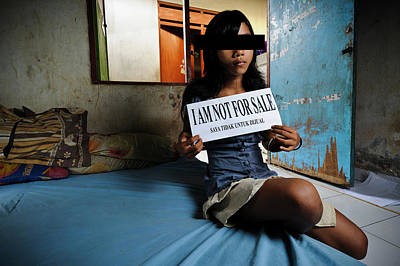Prostitution Photograph - Girl With Sign by Matthew Oldfield
