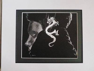 The Girl With The Dragon Tattoo Drawing - Girl With The Dragon Tatoo by Jackie Wilson