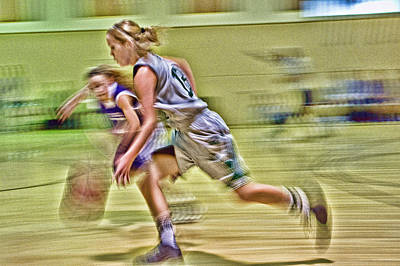 Photograph - Girls Basketball by Ron Roberts