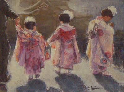 Painting - Girls Day - Japan by Chisho Maas