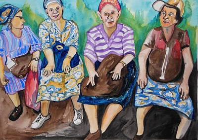 Painting - Girls Day Out by Esther Newman-Cohen