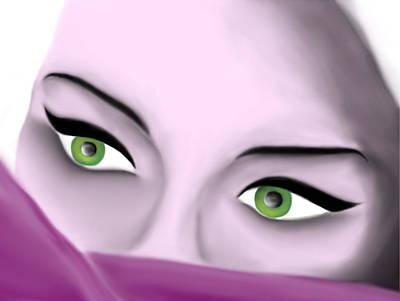 Girl's Eyes Art Print by Sara Ponte
