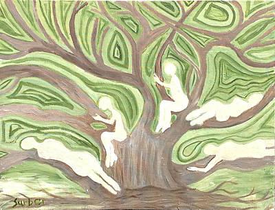 Girls In A Tree Art Print