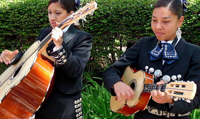 Photograph - Girls In Mariachi Band by Jeff Lowe