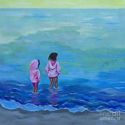 Painting - Girls In Pink by Sandra Yuen MacKay