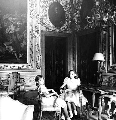Photograph - Girls In The Palazzo Barbaro by Horst P. Horst