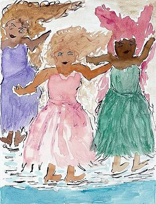 Painting - Girls Love To Dance by Lesley Fletcher