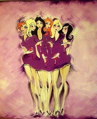 Girls Night Out Art Print by Diane Lane